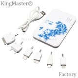 Kingmaster 4000mAh chinesische Art-Keramik-Pfingstrose-Blumen-Energien-Bank