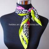 Sciarpa di stampa animale classica/Foulard di seta puri (HWBS007)