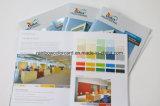 Folheto personalizado do cartão da cor com o ponto UV