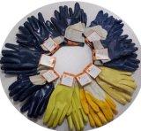 Ddsafety 2017 Blau-Nitril tauchte völlig Handschuh-Sicherheits-Handschuh-Cer ein
