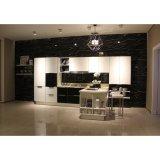 プロジェクトの経済的な熱い販売のメラミン台所木のCarbinetの家具の食器棚
