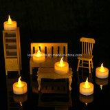 Velas amarillas del flotador LED Tealight para la decoración de Navidad con pilas