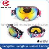 Occhiali di protezione molli eccellenti della neve del pattino della gomma piuma doppi anti della nebbia di vetro sferici staccabili di corsa con gli sci