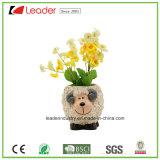 Декоративные цветочные горшки Polyresin с статуей белки для украшения сада