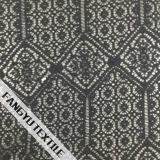 Tela de nylon elegante do laço do algodão com projeto geométrico