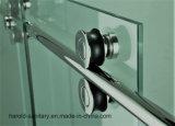 Роскошная дверь ливня сползая стекла ролика Frameless