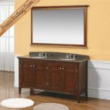 Governo di stanza da bagno dei doppi dispersori di vanità della stanza da bagno di legno solido Fed-1957