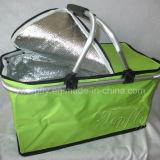 Faltbarer beweglicher Kühlvorrichtung-Korb-Picknick-Korb-Großhandelseinkaufskorb