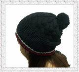 Sombrero hecho punto telar jacquar por encargo de la gorrita tejida con el Spandex (1-3512)