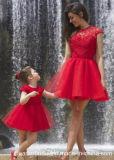 グループのパーティー向きのドレスはレースの母娘のプロムのガウンCk2017をショートさせる