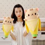 견면 벨벳 바나나 고양이에 의하여 채워지는 장난감