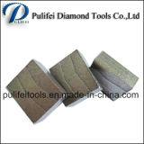 Этап вырезывания гранита этапа диаманта прямоугольника для каменного автомата для резки