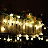 最上質の防水電槽の装備されていた銀製ワイヤー白い球根LEDストリングライト