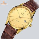 Vigilanza di Mens placcata oro di lusso di Miyota sull'orologio del quarzo dell'acciaio inossidabile di vendita per gli uomini 72806