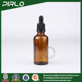 янтарные стеклянные бутылки эфирного масла 50ml с черной пластичной капельницей