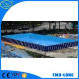 Подгонянный низкой ценой плавательный бассеин стальной рамки размера