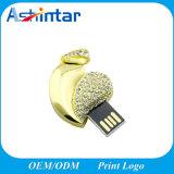 Stok USB van het Kristal van de Aandrijving van de Flits van de Vorm USB van het hart de Mini