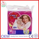 Pañal disponible del bebé del panal del bebé de la película respirable no tejida de la tela de la marca de fábrica de la estrella del Q-Bebé M12