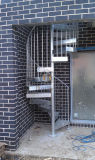 Escalera espiral del metal del ahorro de espacio para de interior/al aire libre
