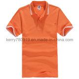 T-shirt novo do algodão do projeto com impressão do bordado