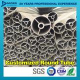 Le profil T5 en aluminium rond de la pipe 6063 de tube avec le moulin anodisé a terminé