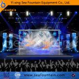 Fuente material al aire libre de la música de los multimedia del acero inoxidable con película de la pantalla de agua