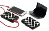 Carpeta de la tarjeta de crédito modificada para requisitos particulares de Aluma de la función de la batería de la potencia del regalo RFID