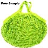 Großhandelsfrucht-Baumwollineinander greifen-Einkaufstasche-Baumwollnettobeutel