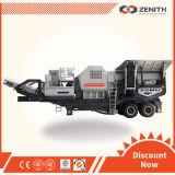 Máquina de mineração Pequena trituradora de rocha portátil Triturador de pedra móvel Triturador móvel