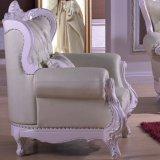 Деревянная кожаный софа для живущий мебели комнаты (D992)