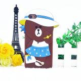 iPhoneのための3D漫画の帽子くまのスーツケースくまのシリコーンの箱6 6plus 7 7plus