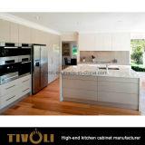 Конструкция кухни просто и чистого меда белая лакируя с дверью и ручкой нажима свободно конструирует Tivo-0214h