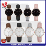Signora calda Fashion Quartz Watches di Waches della manopola dell'uomo del cuoio genuino di moda Yxl-582