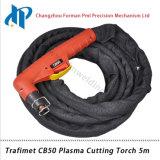 Tocha de soldadura portátil 5m do plasma de Trafimet CB50 com conetor central