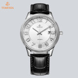 Automatischer Uhr-Luxuxmann gebrandmarkt Uhr mit Leathe &Stainless Stahlband 72321