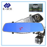 5 polegadas Review Mirror Camera Auto Dash Cam Car DVR