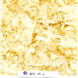 Yc-031 de Gele Witte Marmeren Films van de Druk van de Overdracht van het Water van het Ontwerp Yincai