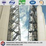 Steelstair를 가진 조립식 가옥에 의하여 증명서를 주는 무거운 강철 구조상 건물