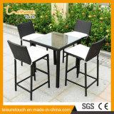 옥외 정원 KTV 가구 높은 발 의자 고리 버들 세공 바 작은 술집 등나무 의자 테이블 세트