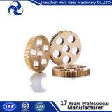 Engrenagem de espuma de bronze Circular Pulley Material Cu Small Wheel