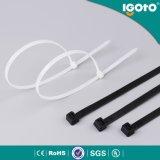 Plastique et serre-câble libérables noirs de nylon