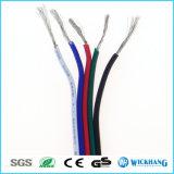 AWG del alambre 22 del cable de extensión de 5pin RGBW para la tira SMD 5050 3528 del color LED del RGB