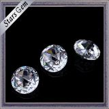 Round 5mm Brilliant Rose Cut White Color Zircon cubique Gemstones pour bijoux