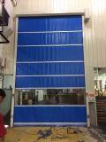 Plásticos transparentes del policarbonato ruedan para arriba la puerta del obturador del rodillo