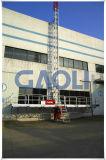 10-30mの単一のマスト上昇作業プラットホーム