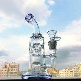 Gldg 8 pollici - tubo di acqua di vetro del getto della bocca viola alta di Perc