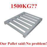 paletas de aluminio/de aluminio del cargamento 1500kg con el claro anodizado