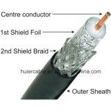 Venta caliente del precio barato cable coaxial RG6 del PE de la espuma de 75 ohmios