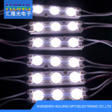 Lumière blanche avec la lumière de module de la lentille optique DEL