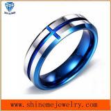 Lichaam Jewellry van de Ring van de Mens van het Plateren van de Juwelen van het wolfram het Blauwe